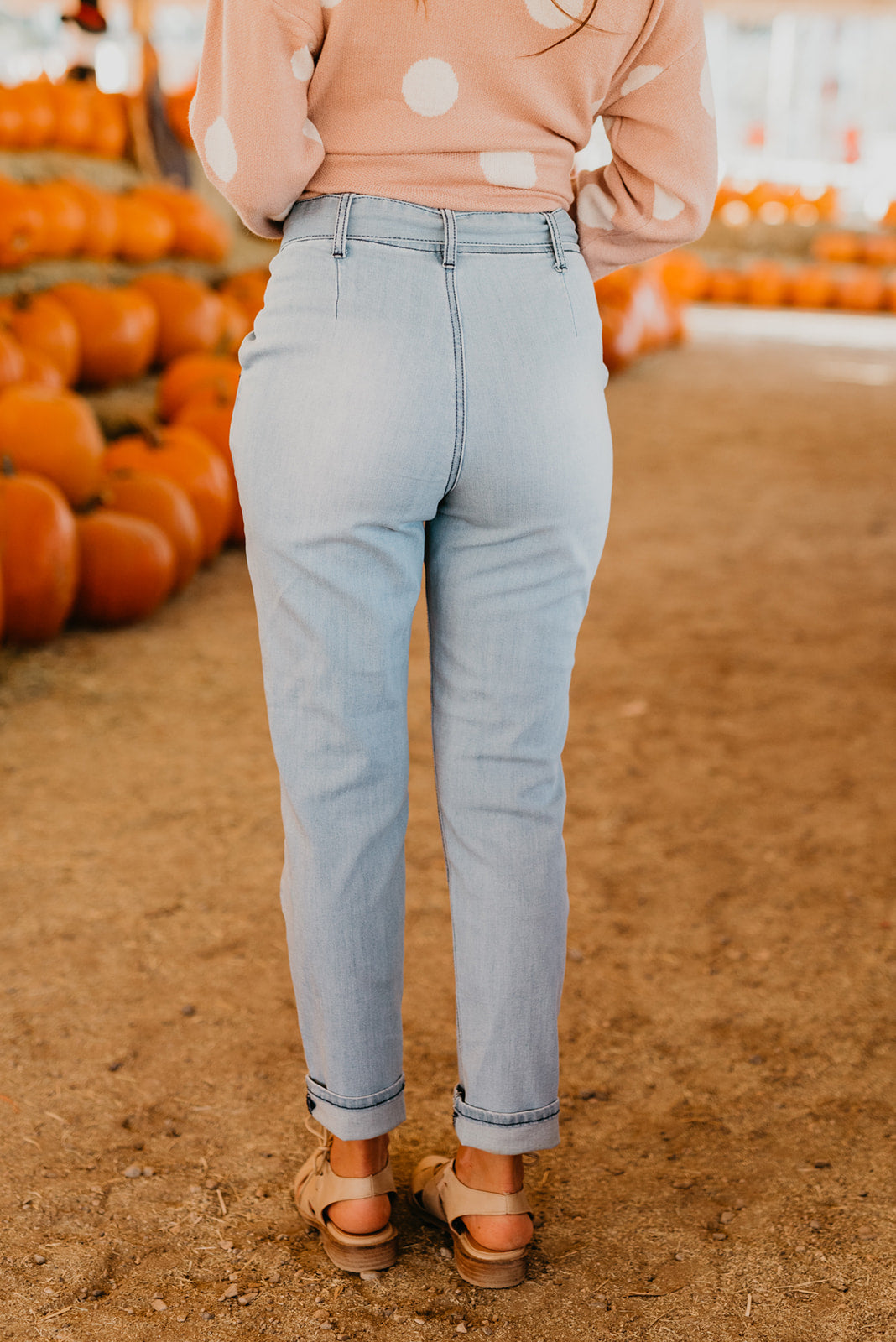 THE HIGH WAIST PAPER BAG PANT IN LIGHT DENIM