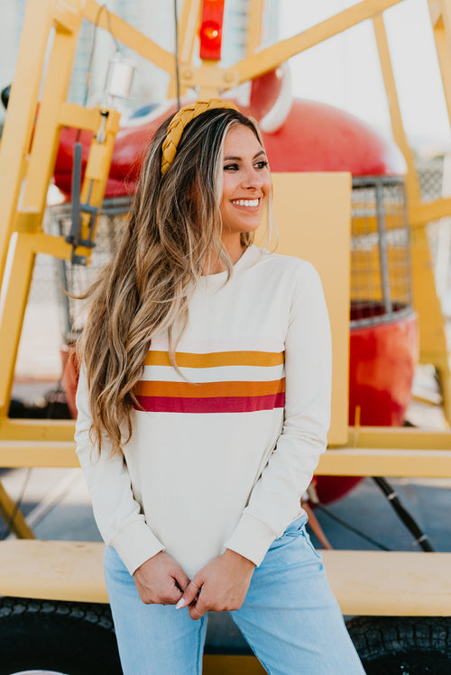 THE LEAH LONG SLEEVE STRIPE TOP