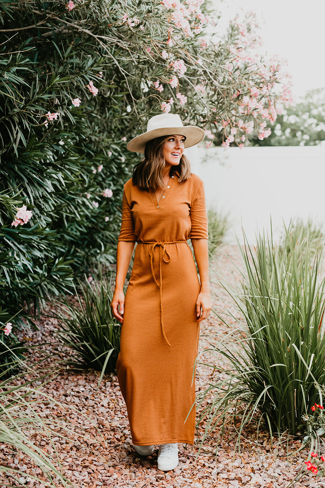 THE POPPY POLO MAXI DRESS IN RUST