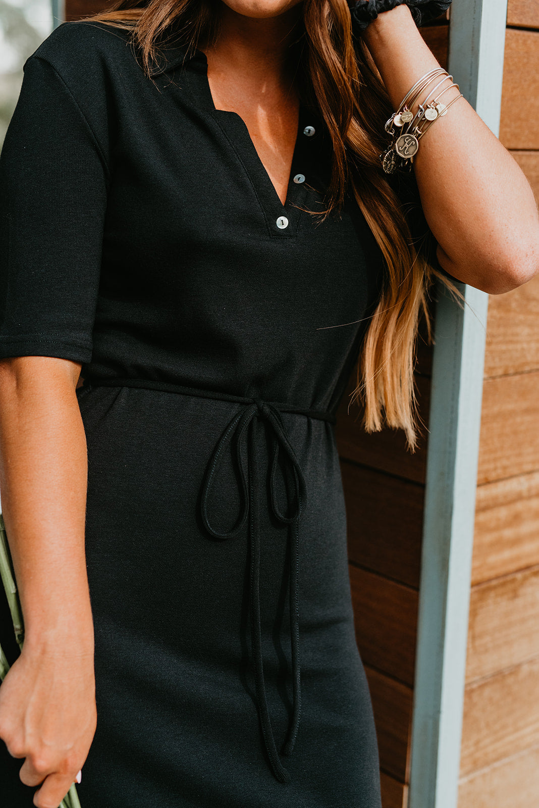 THE POPPY POLO MAXI DRESS IN BLACK