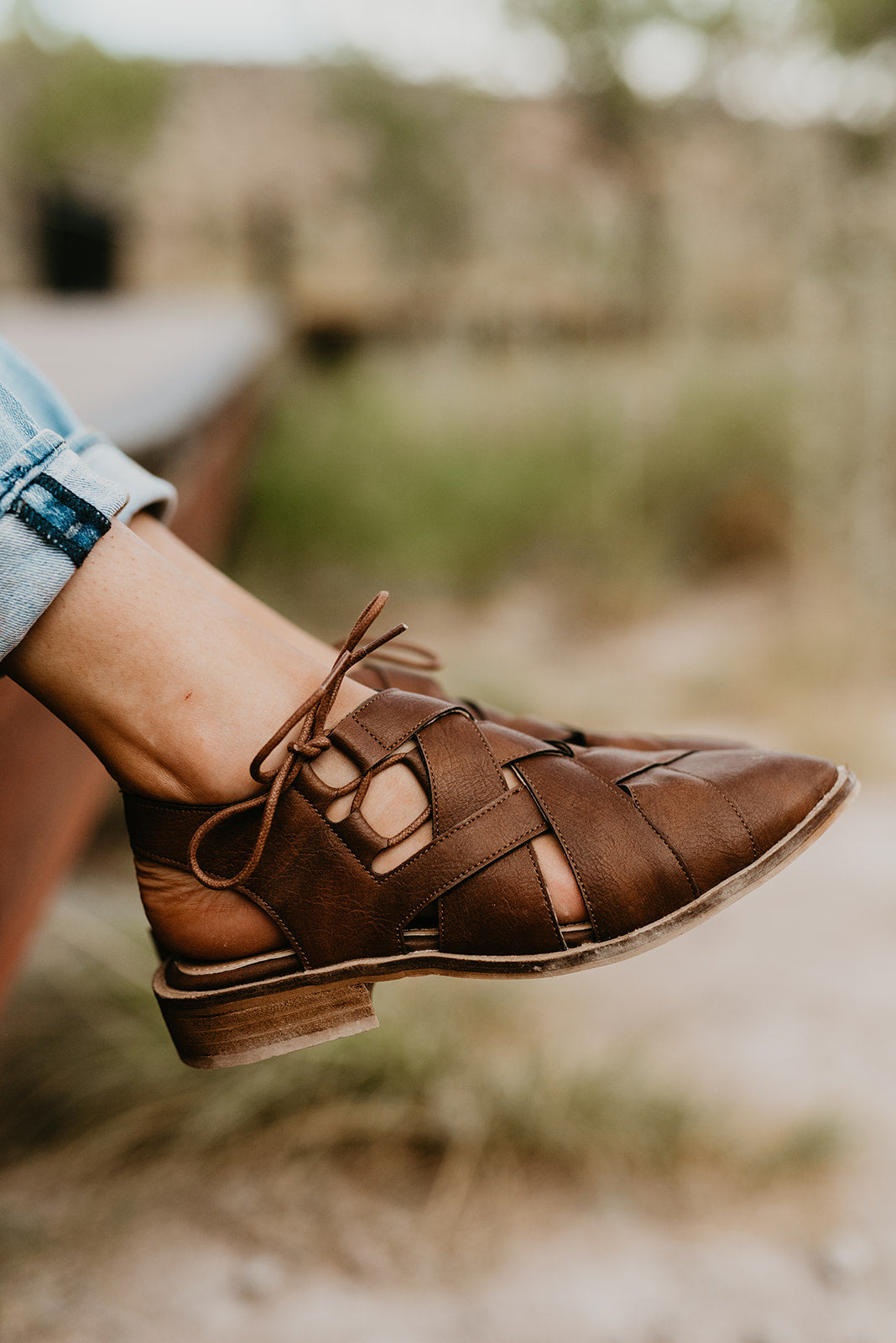 THE RICHIE WOVEN POINTY FLATS IN BROWN