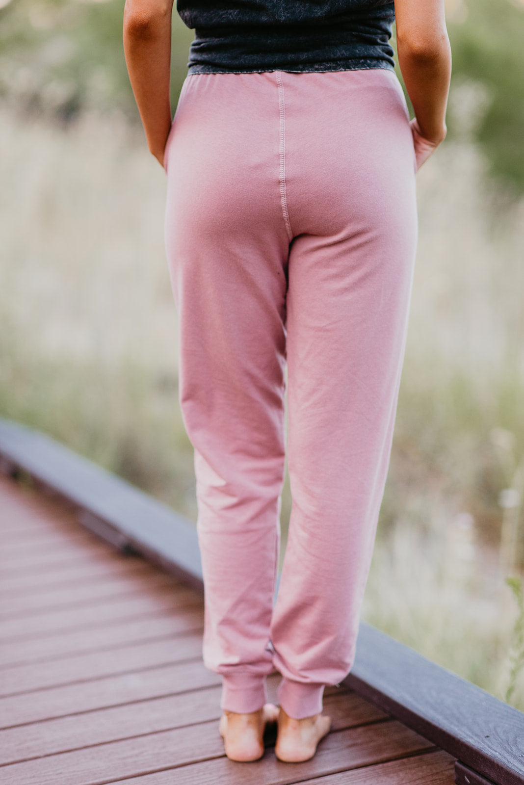 THE TERRY JOGGER PANT IN MAUVE