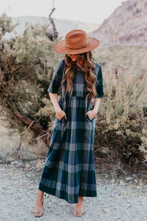 THE WILD CHECKERED MIDI DRESS