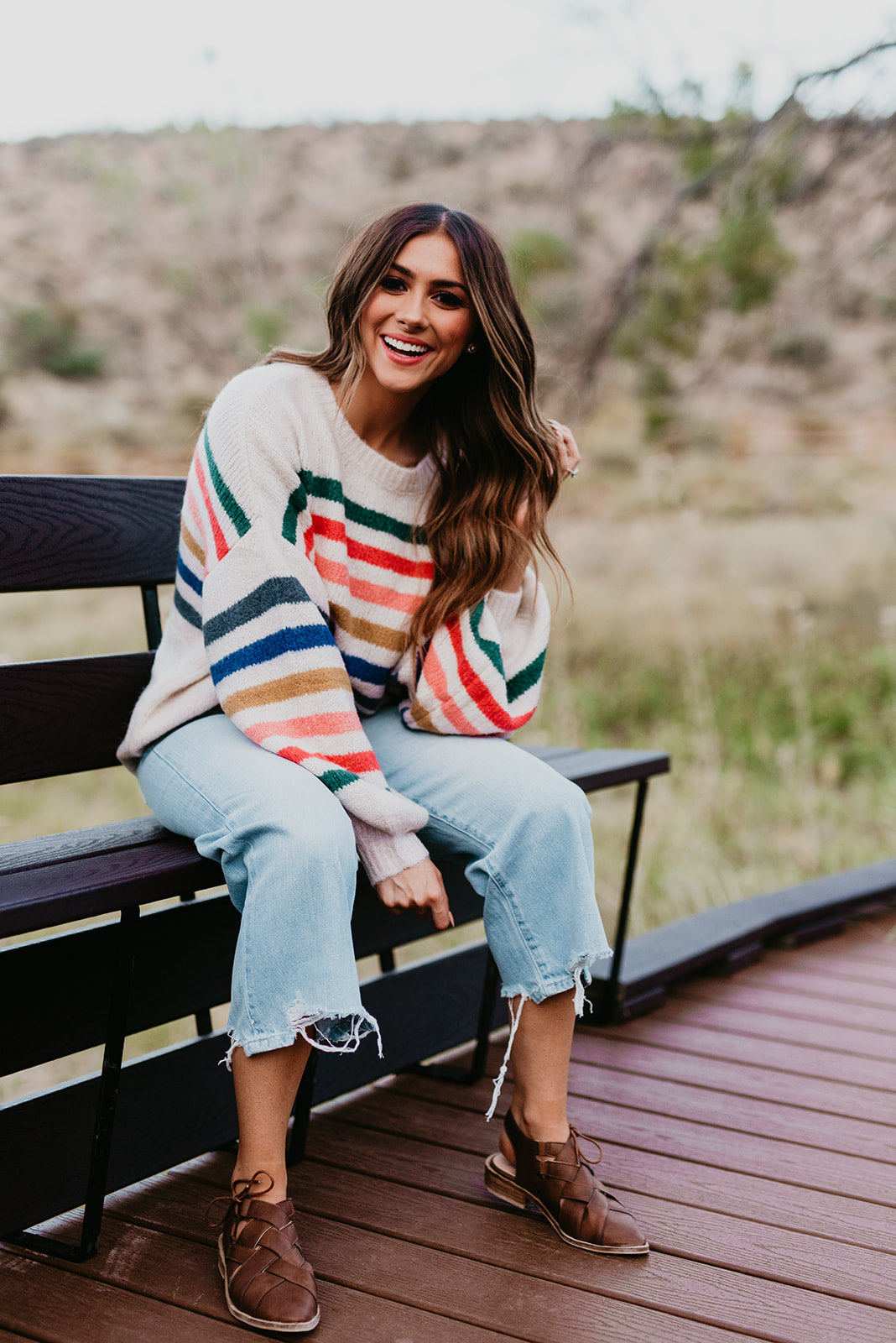 THE OATMEAL STRIPED SWEATER IN MULTI