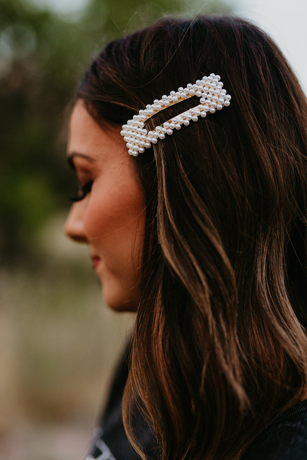 THE PEARL PAVE RECTANGULAR HAIRPIN