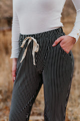 THE RYDER PIN STRIPED JOGGER PANT