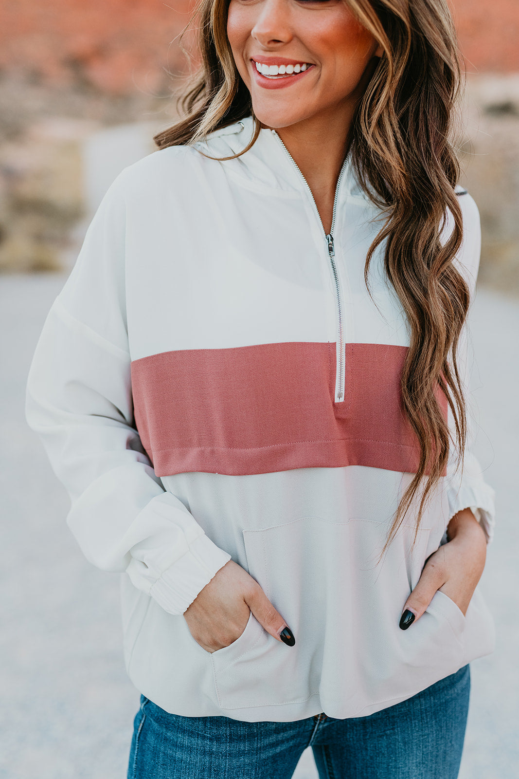 THE CORBIN COLOR BLOCK HOODIE