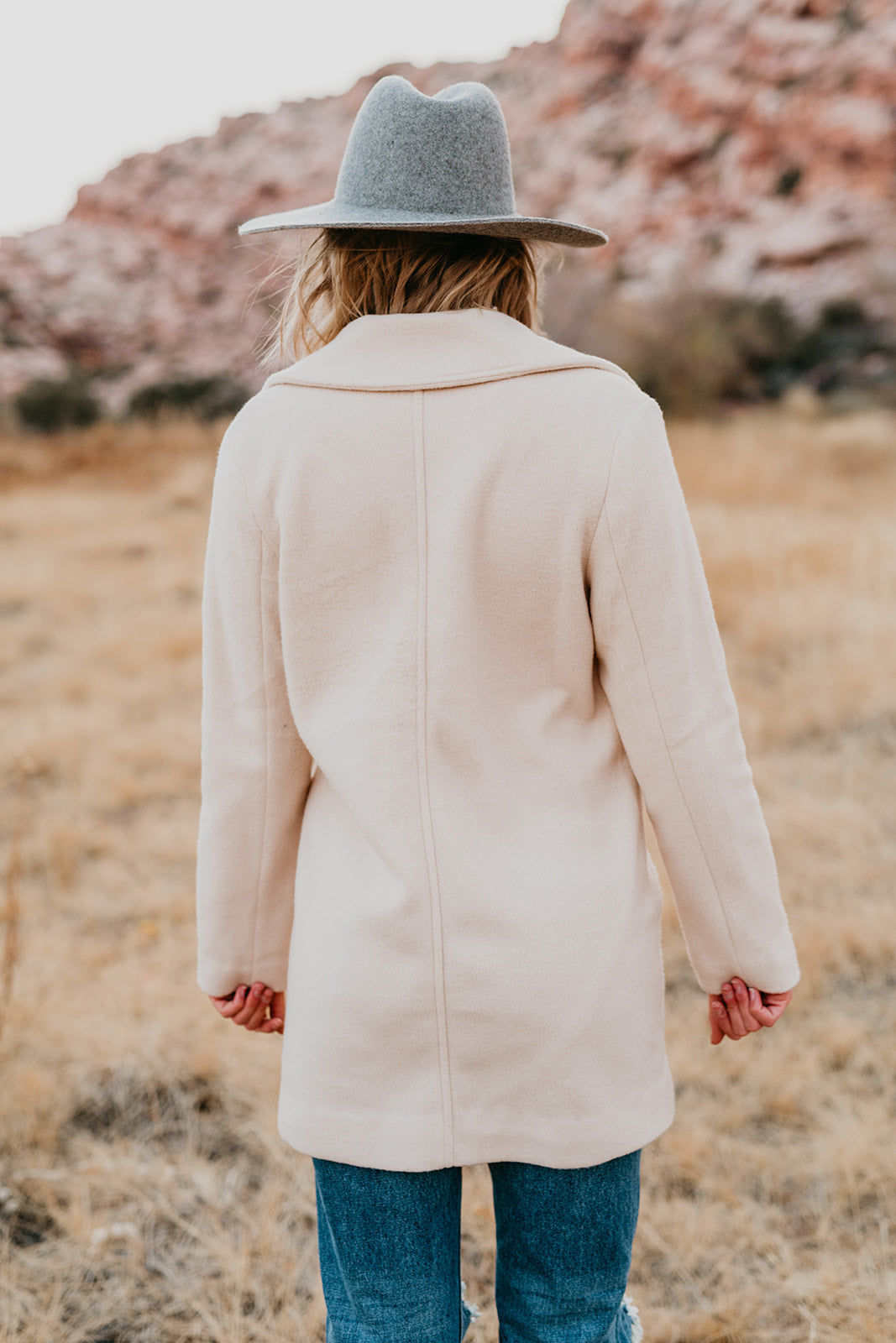 THE GWYNETH PEA COAT IN VANILLA