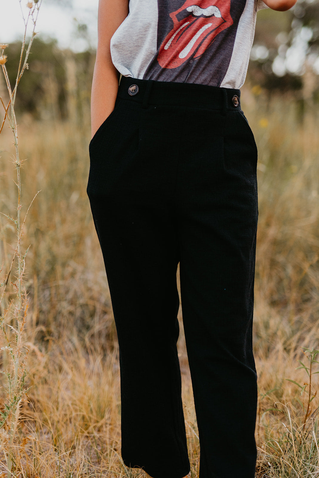 THE CARISSA CROPPED PANT IN BLACK
