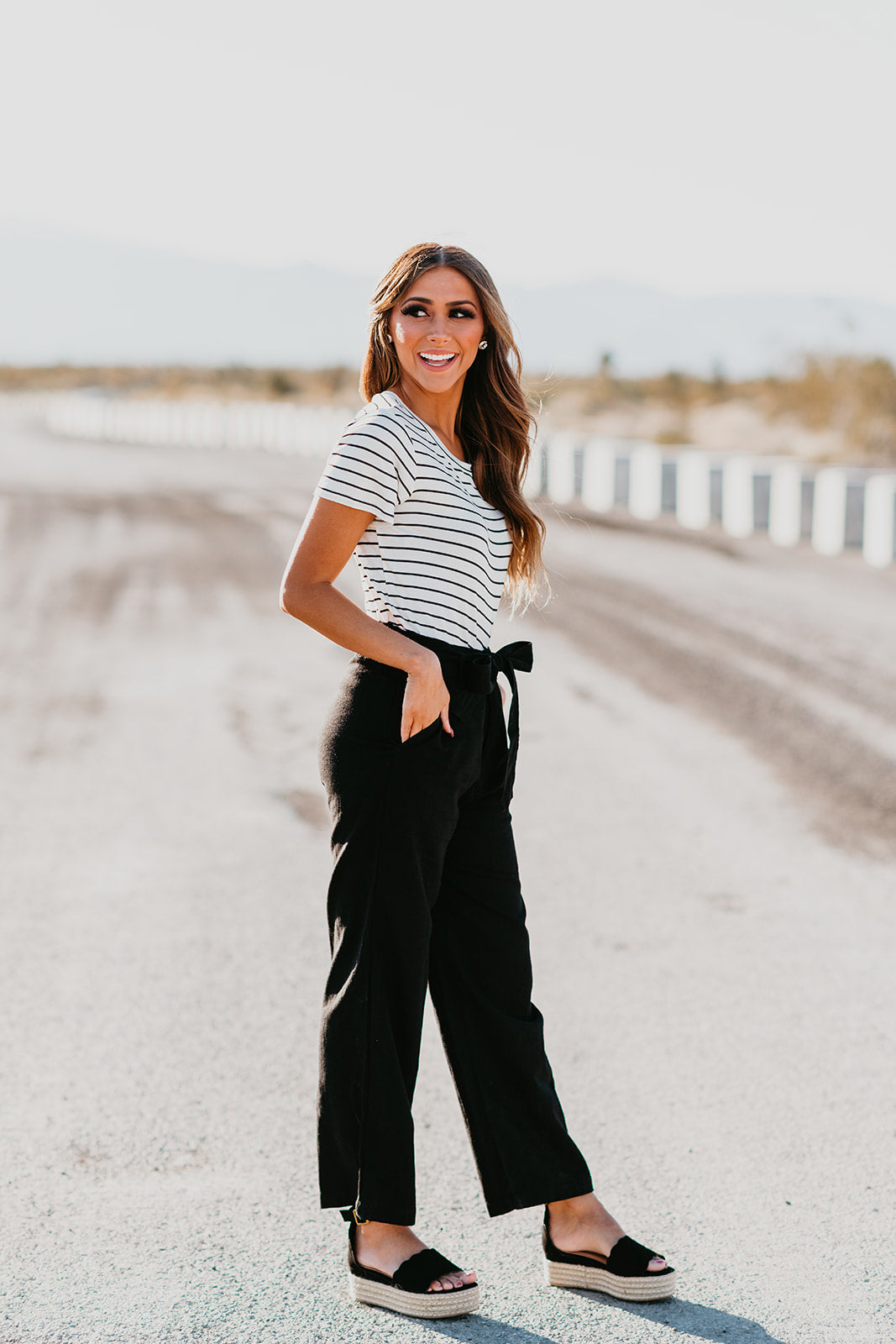 THE PAXTON WIDE LEG PANT IN BLACK