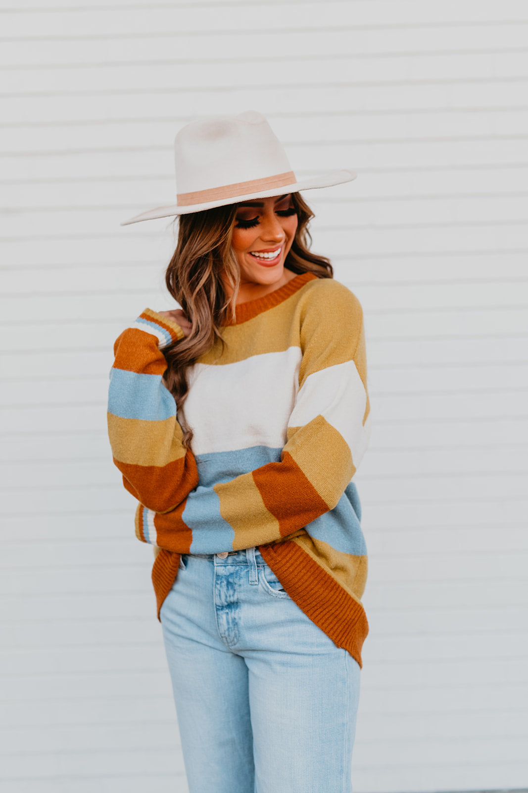 THE RAY KNIT BOYFRIEND PULLOVER IN MULTI