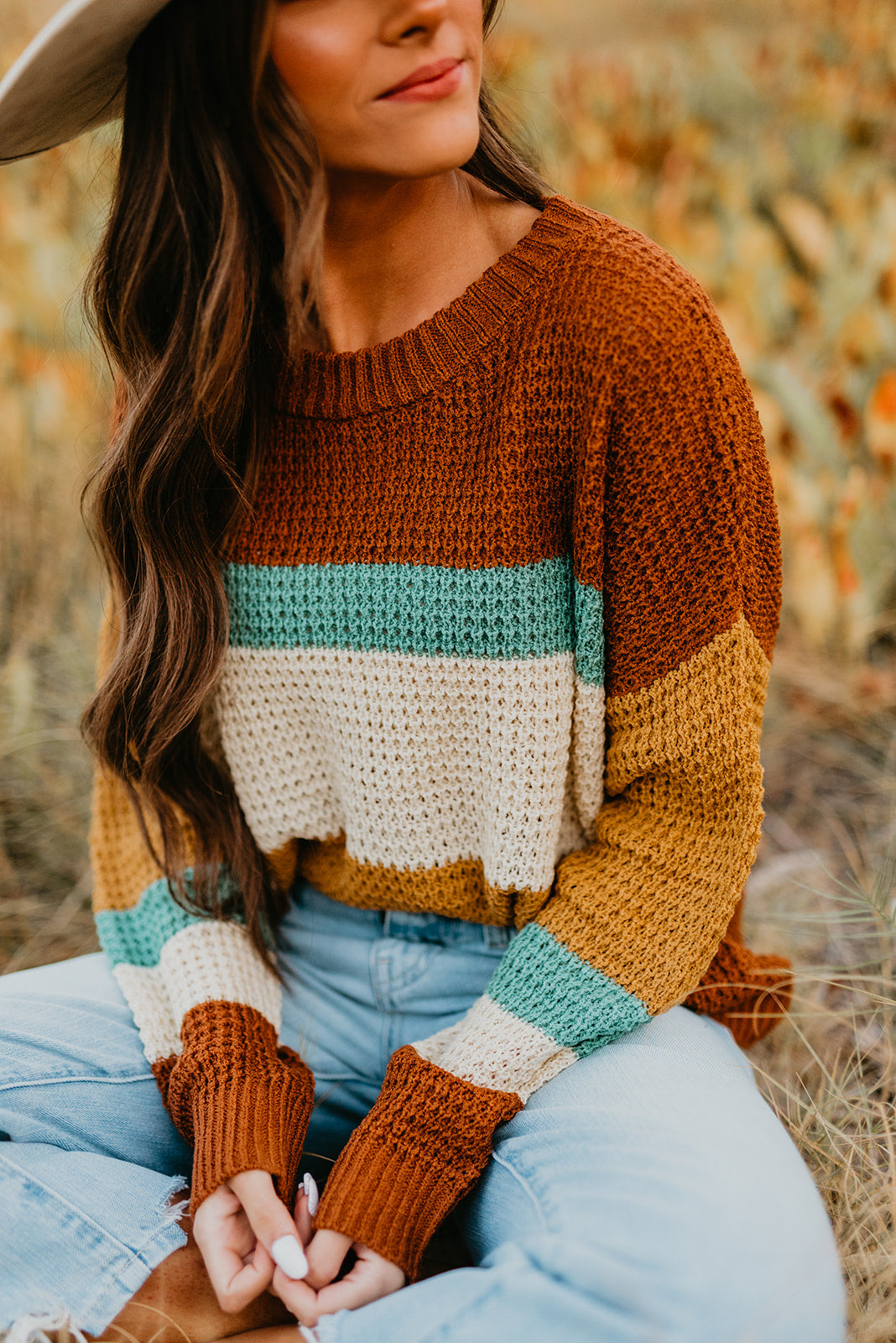 THE SOREL COLOR BLOCK SWEATER