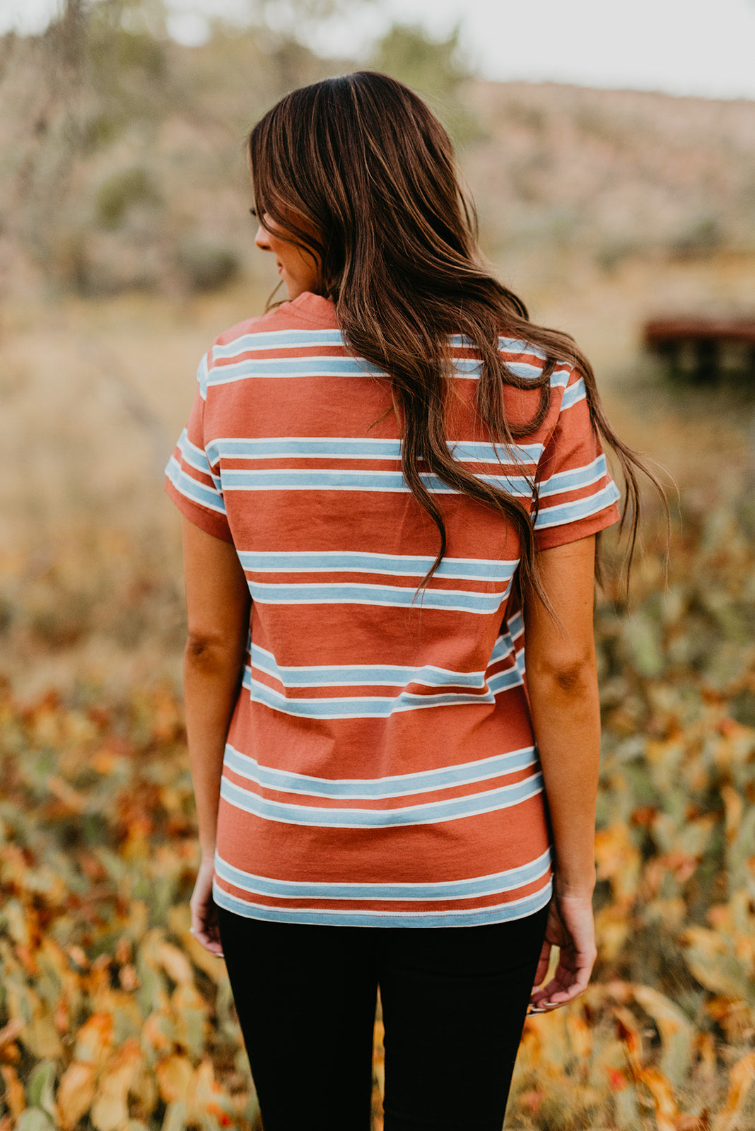 THE MACY MULTI STRIPE SHORT SLEEVE TEE
