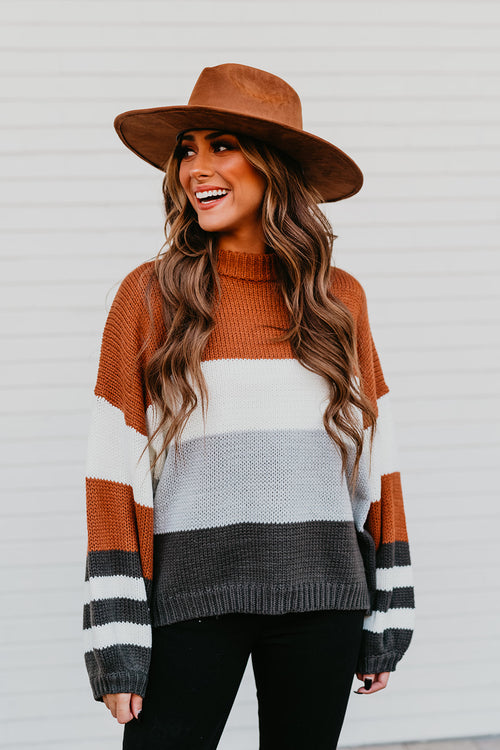 THE BOSTON COLOR BLOCK SWEATER