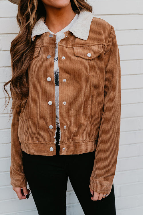 THE CARVER CORDUROY JACKET IN CARAMEL