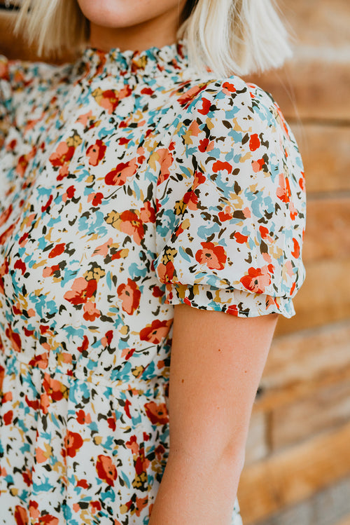 THE FINLEY FLORAL MIDI DRESS