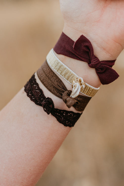 THE CHOCOLATE HAIR TIES