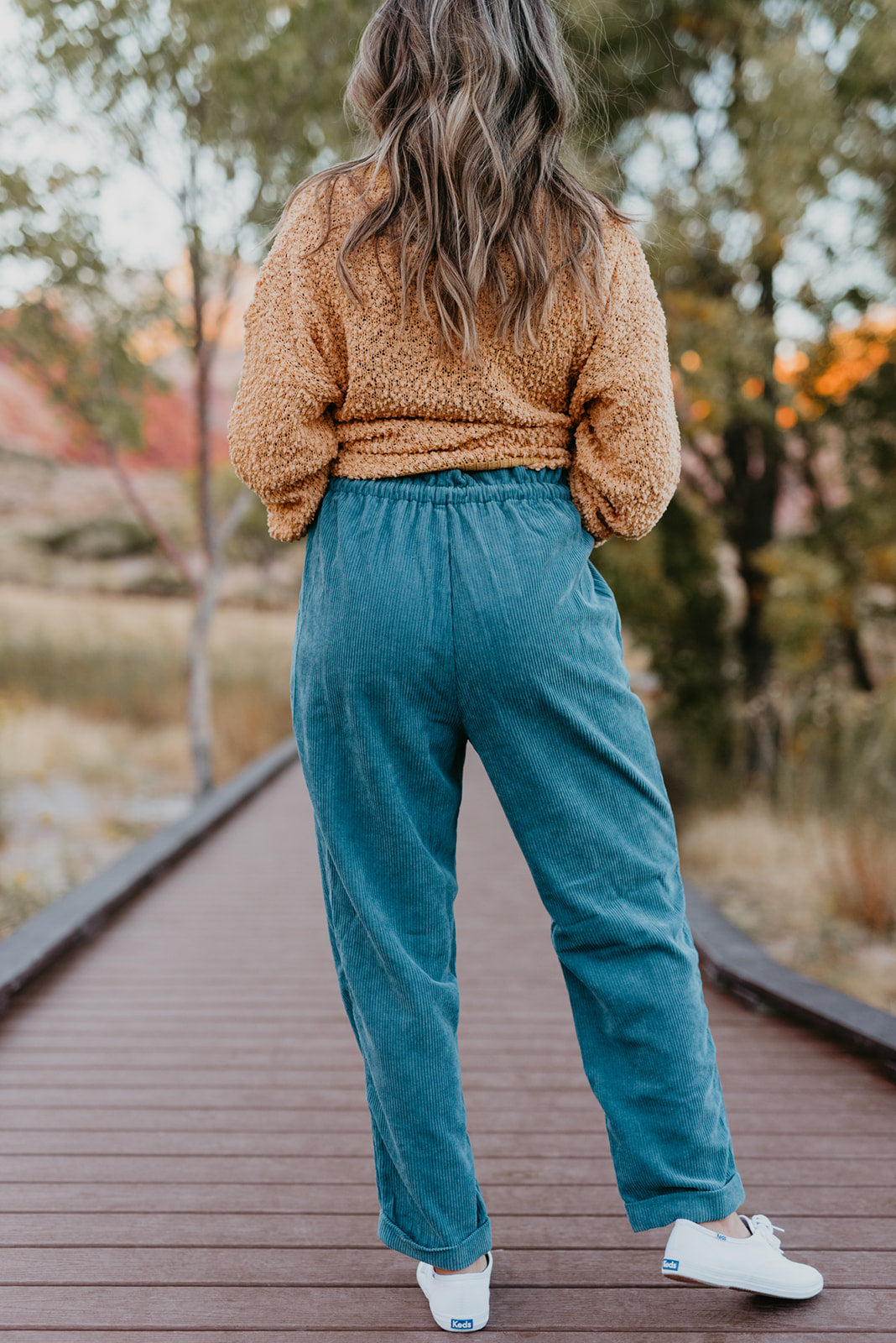 THE CHANDLER CORDUROY JOGGER IN RUSTIC BLUE