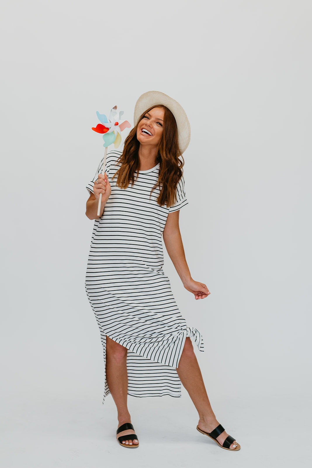 THE QUINN STRIPE MAXI IN WHITE