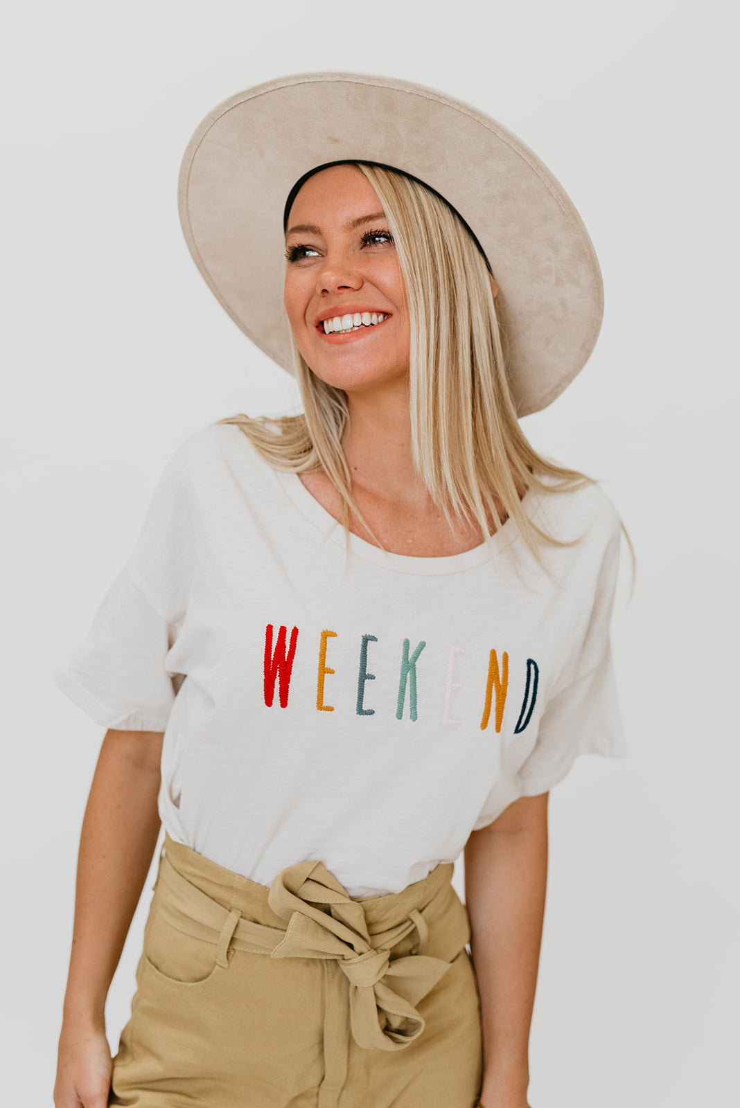 THE WEEKEND EMBROIDERED SHIRT IN CLAY