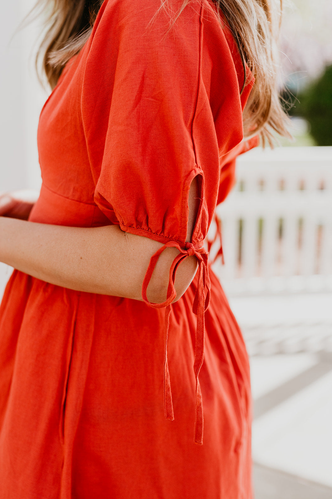THE ONELLA MIDI DRESS IN ORANGE