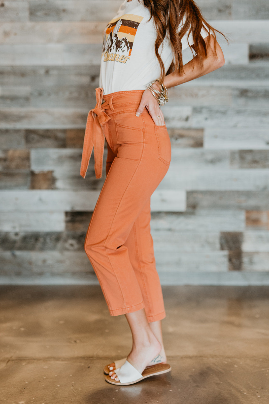 THE ANDERSON TIE PANT IN SIENNA