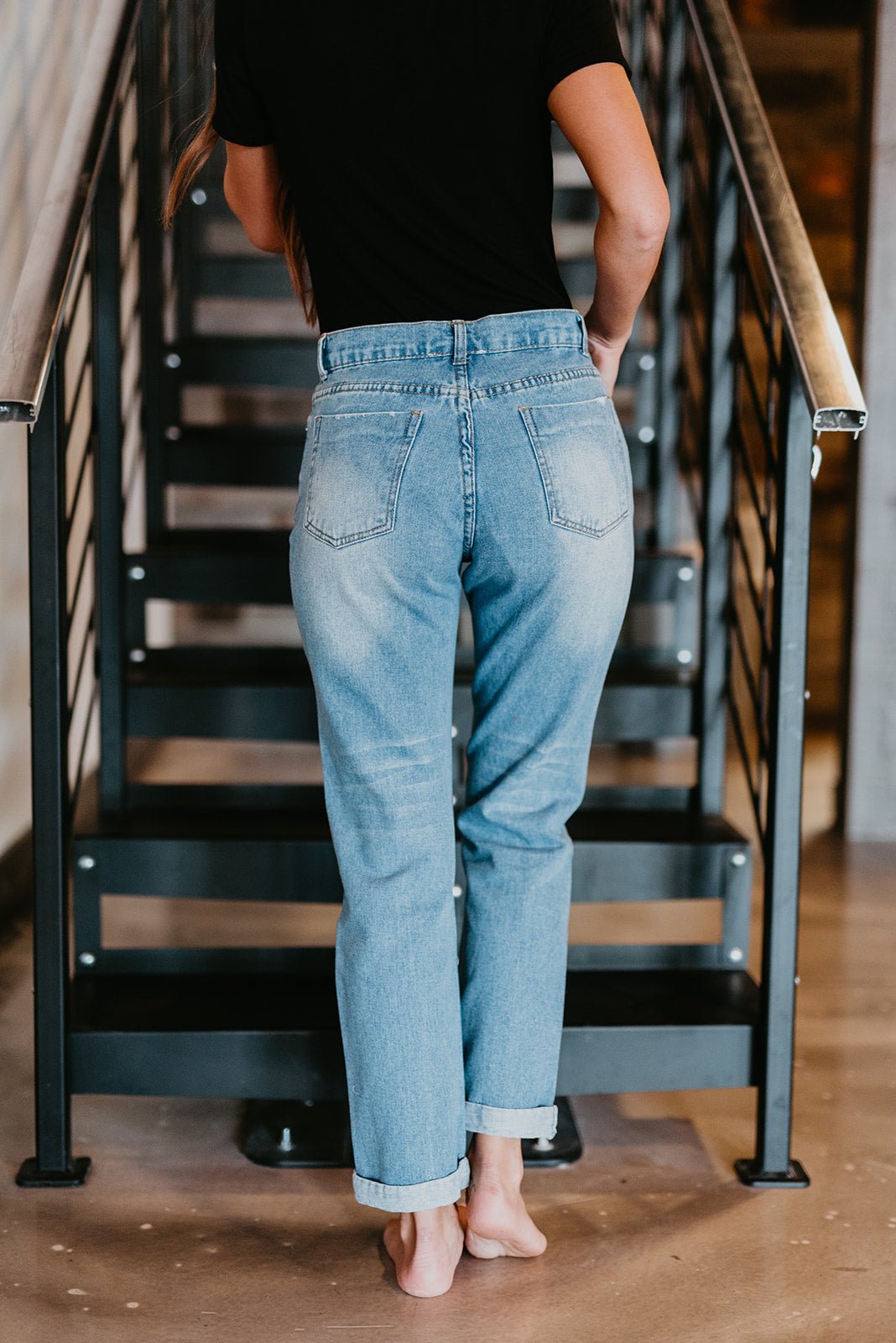 THE TOMGIRL STRAIGHT LEG JEAN IN LIGHT DENIM