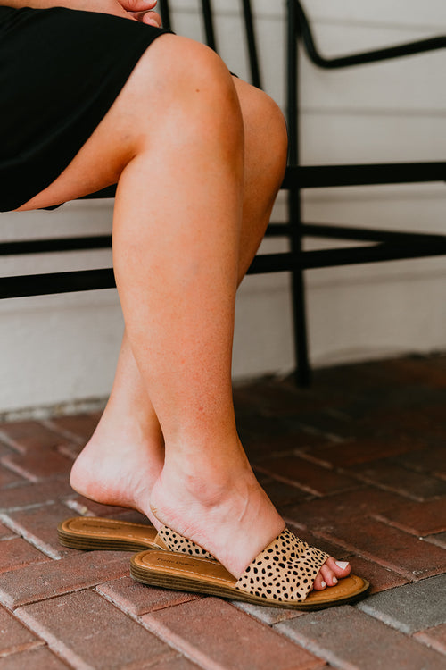 THE WIDE BAND SANDAL IN CHEETAH PRINT