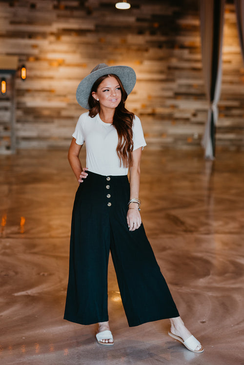 THE KELBY WIDE LEG PANT IN BLACK