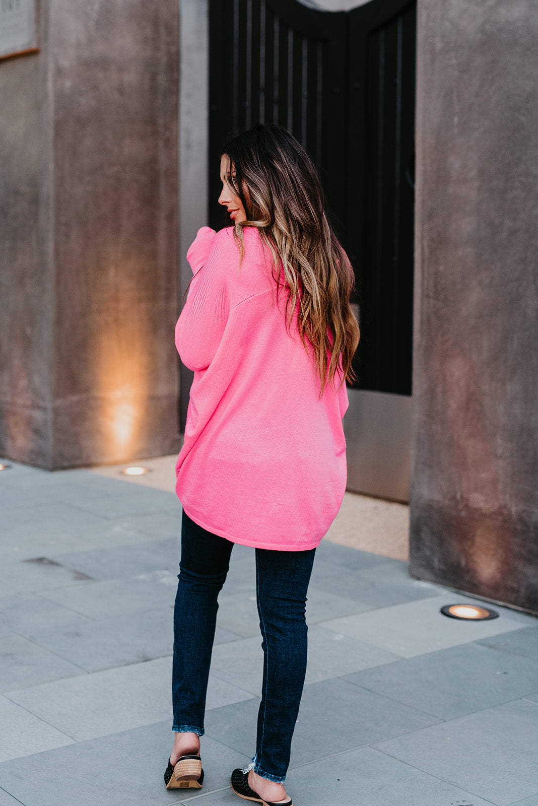 THE SERENA SWEATER IN HOT PINK