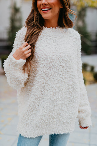 THE CHEYENNE PULLOVER SWEATER IN OFF WHITE