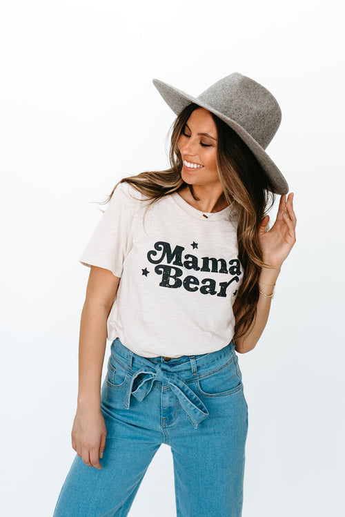 THE MAMA BEAR GRAPHIC TEE IN CLAY