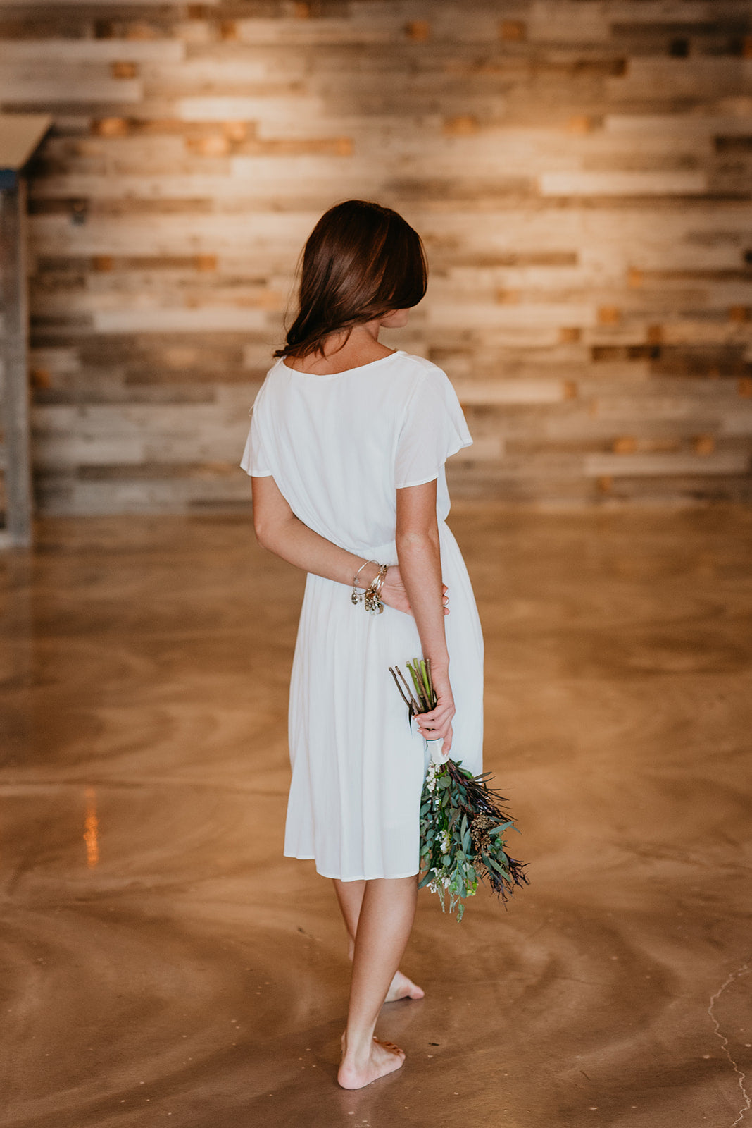 THE LANDEN MIDI DRESS IN IVORY