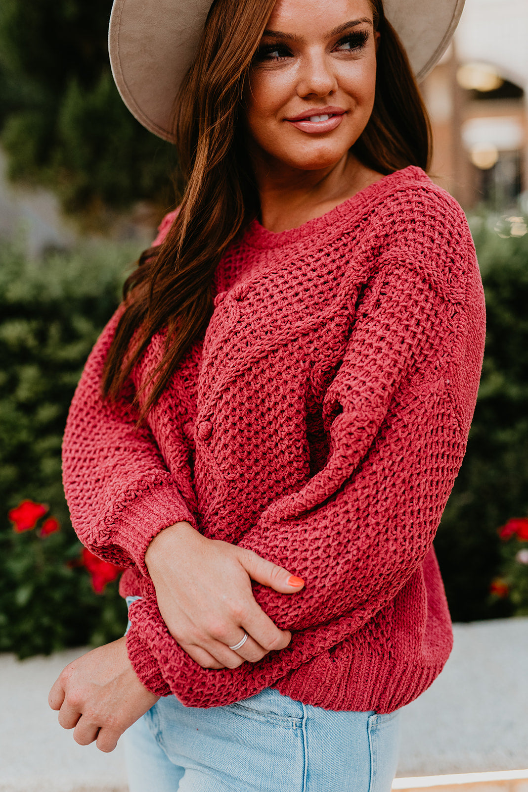 THE PAYTON PULLOVER SWEATER IN VINTAGE ROSE