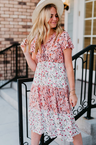 THE THEA FLORAL MAXI DRESS IN RED