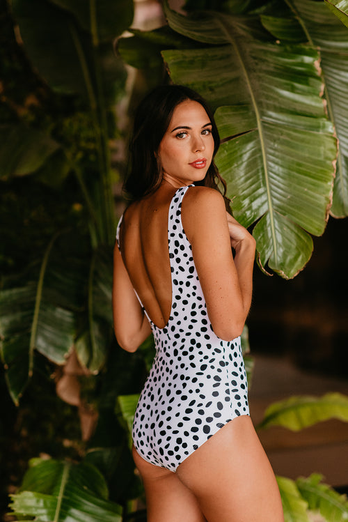 THE SCOOP ONE PIECE IN DOTTY DALMATIAN
