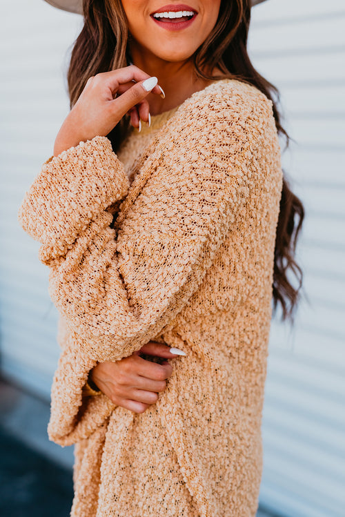 THE PORTER PULLOVER SWEATER IN SOFT YELLOW