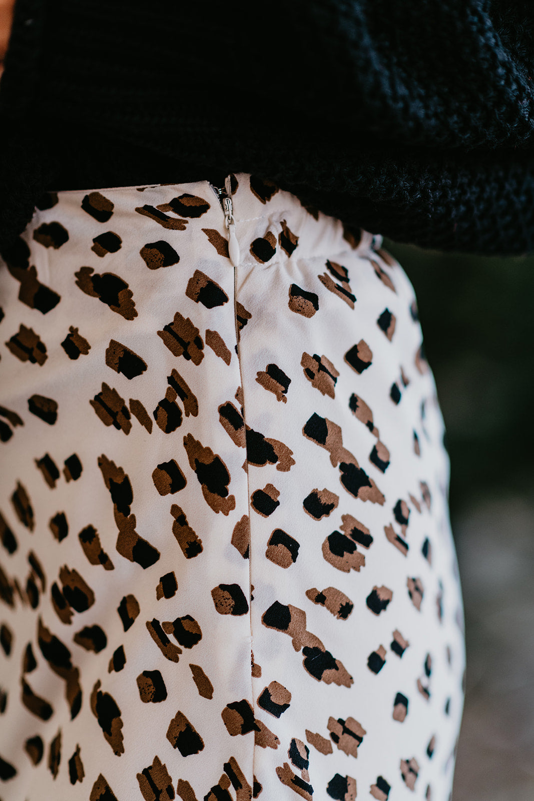 THE CHANNING SKIRT IN CREAM LEOPARD