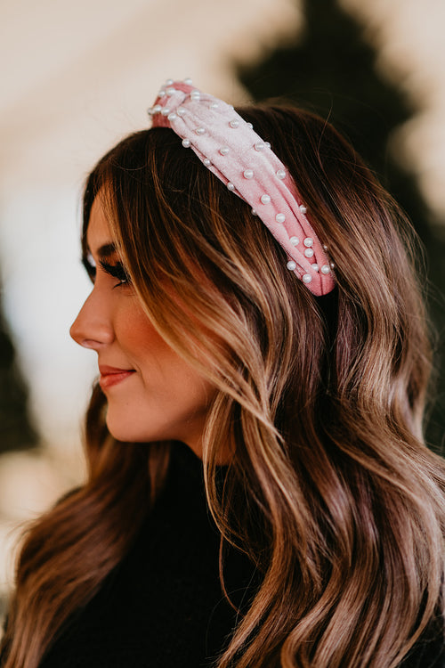 THE PEARL HEADBAND IN PINK