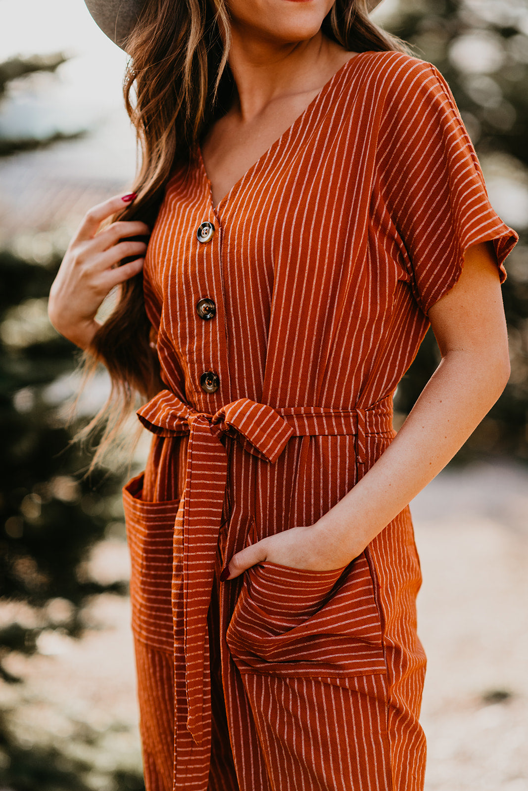 THE DESERT TIE JUMPER IN RUST