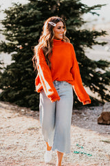 AL CARRAWAY X PINK DESERT - THE CLASSIC TURTLENECK SWEATER IN ORANGE