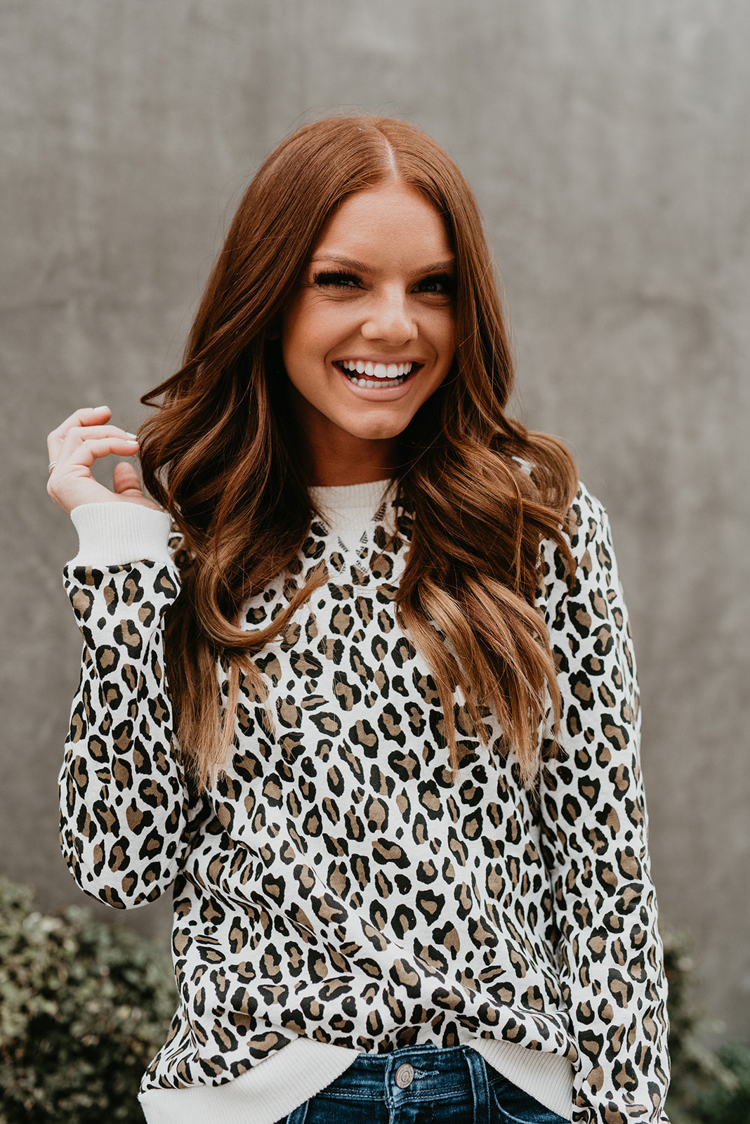THE GEORGIE SWEATSHIRT IN LEOPARD