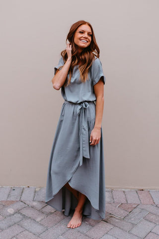 THE MAE BABYDOLL TUNIC IN GREY