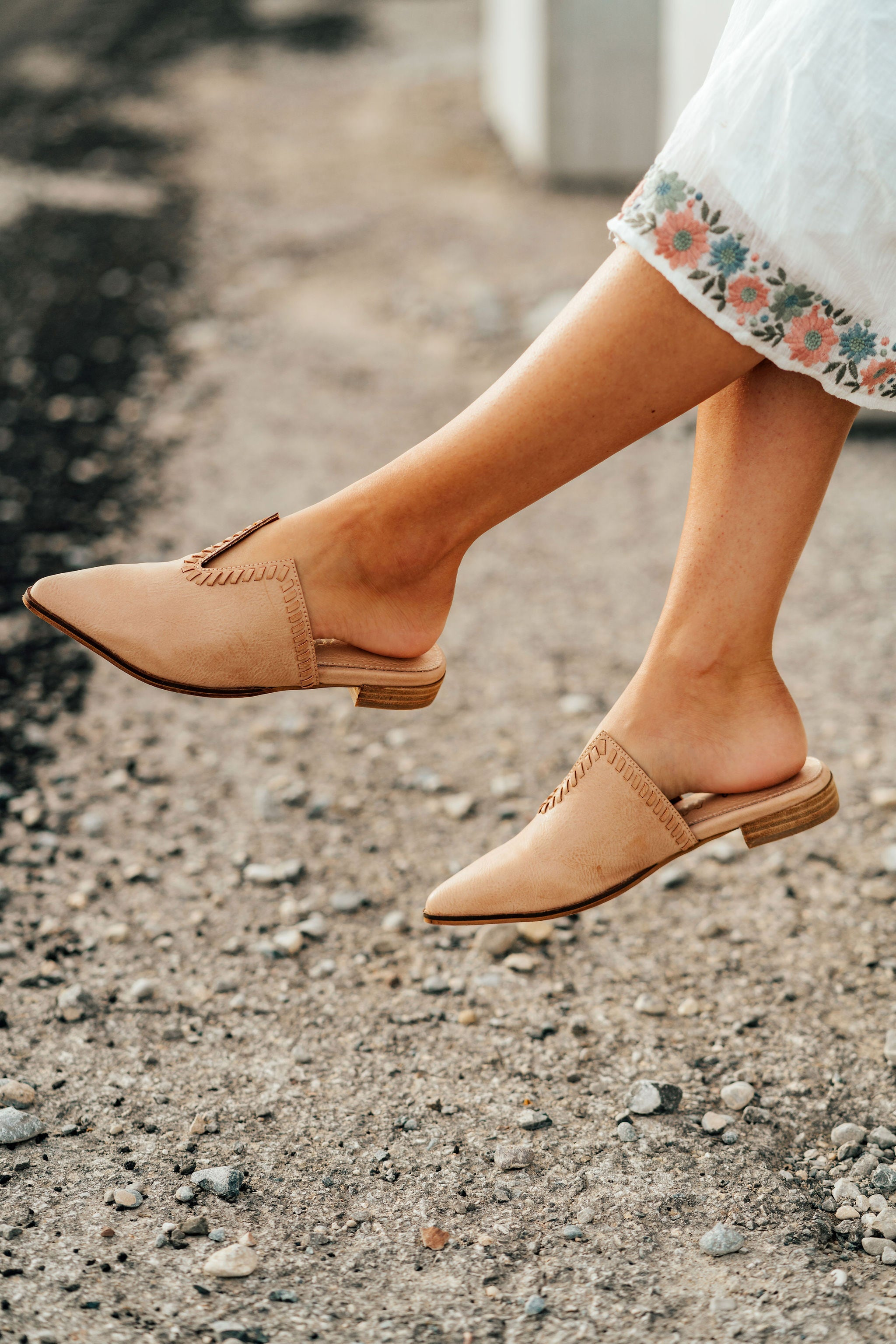 AL CARRAWAY X PINK DESERT - THE SOPHIA MULE IN ROSE