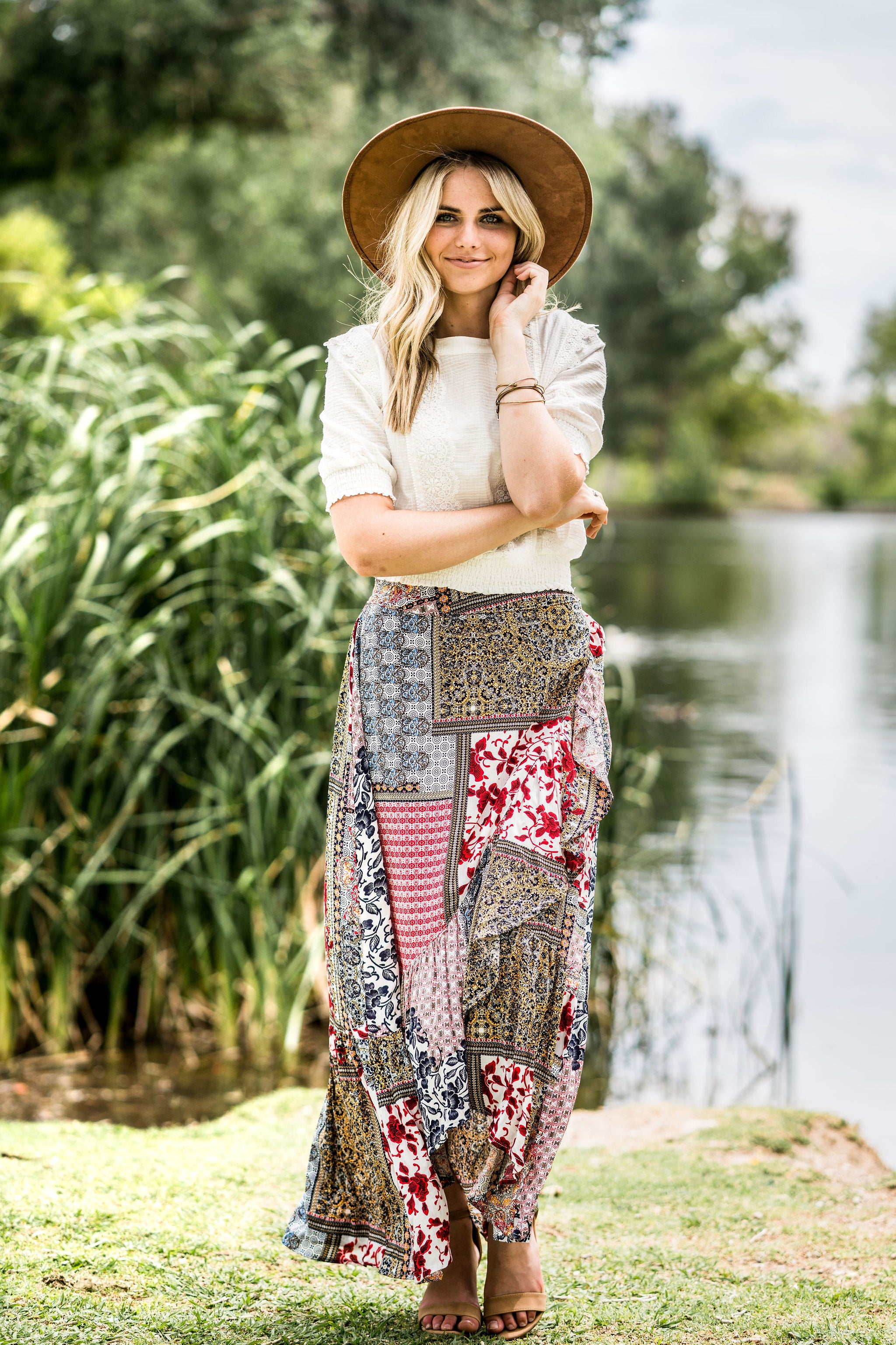 THE JUNI PATCHWORK SKIRT IN MULTI
