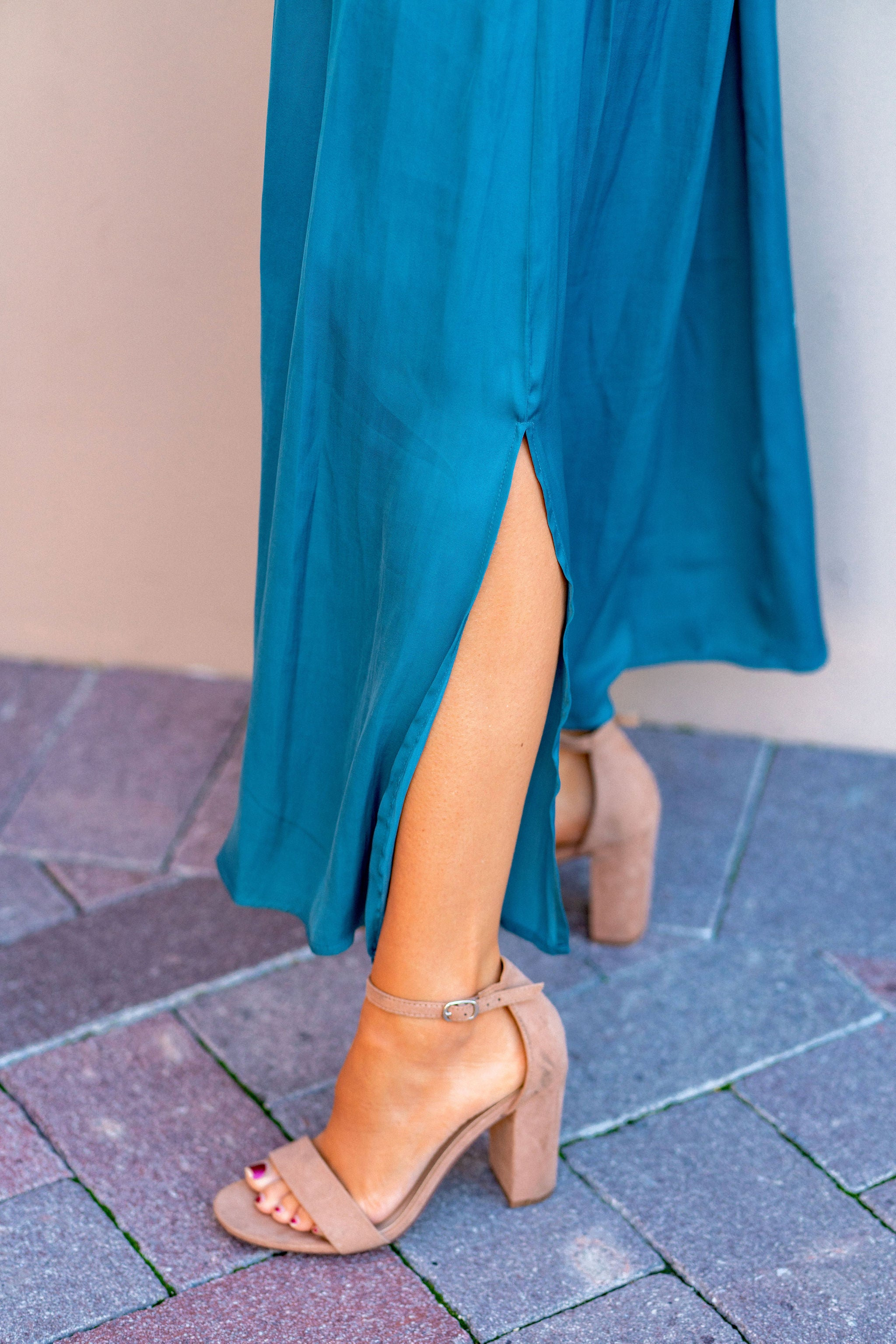 THE LOVETT MAXI SKIRT IN TEAL