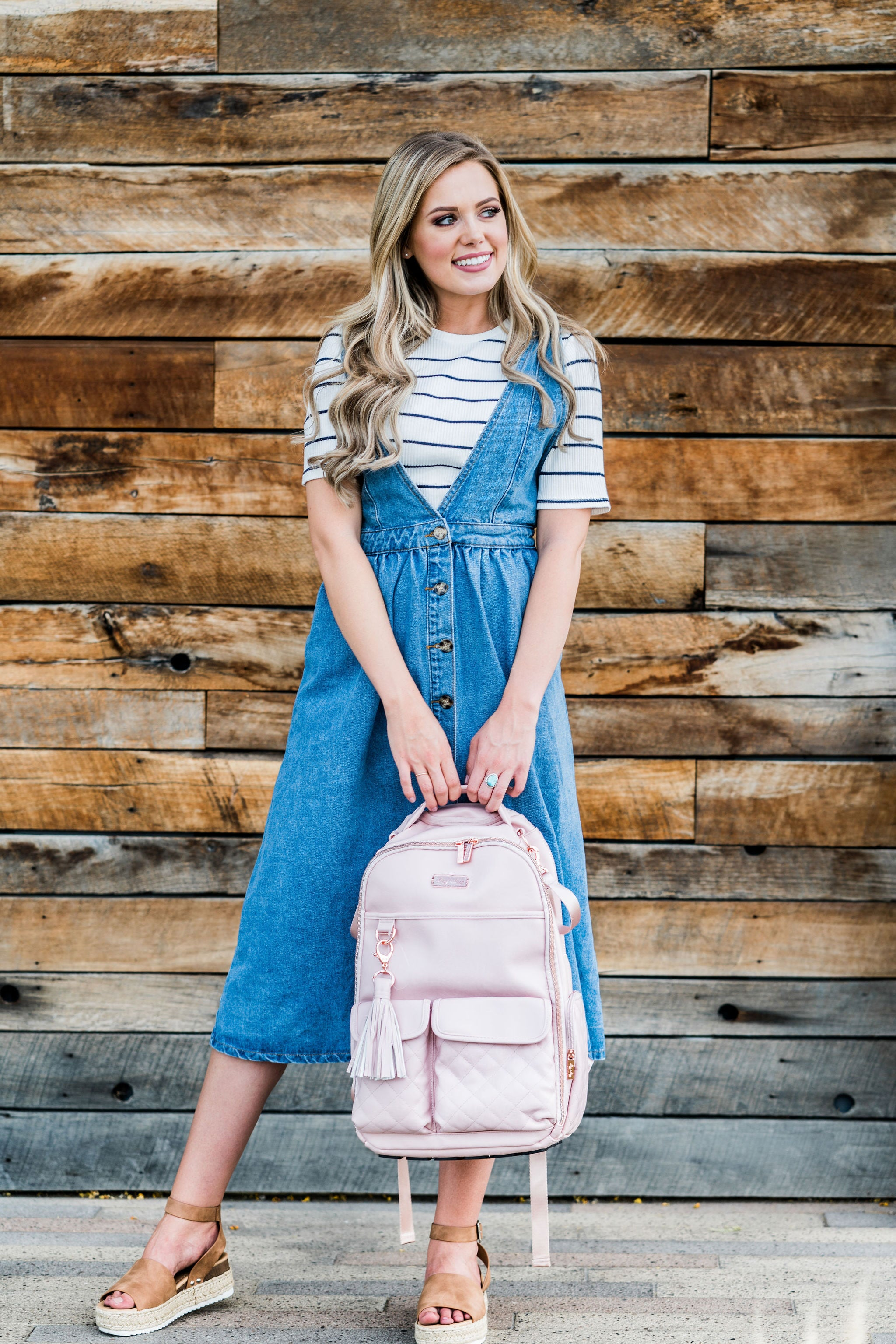 THE CALLIE OVERALL DRESS IN DENIM