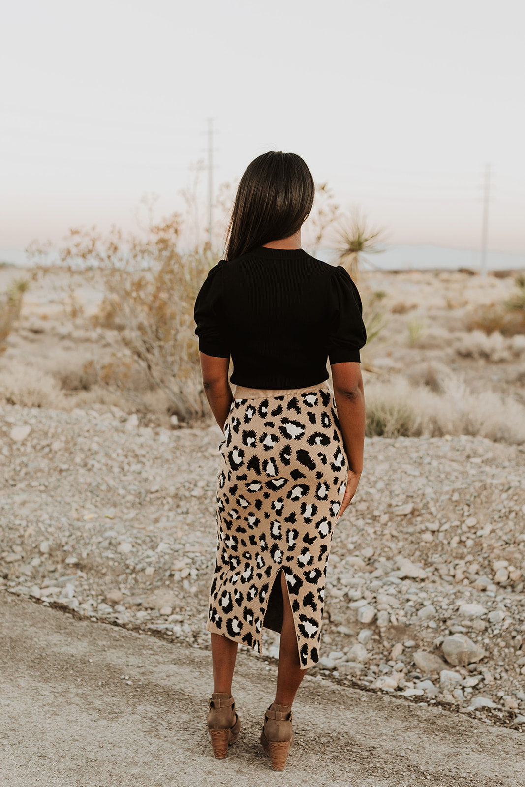 THE STAY FIERCE MIDI SKIRT IN MOCHA
