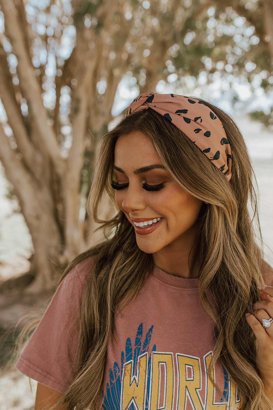 THE VAN GOGH TWISTED HEADBAND IN BROWN