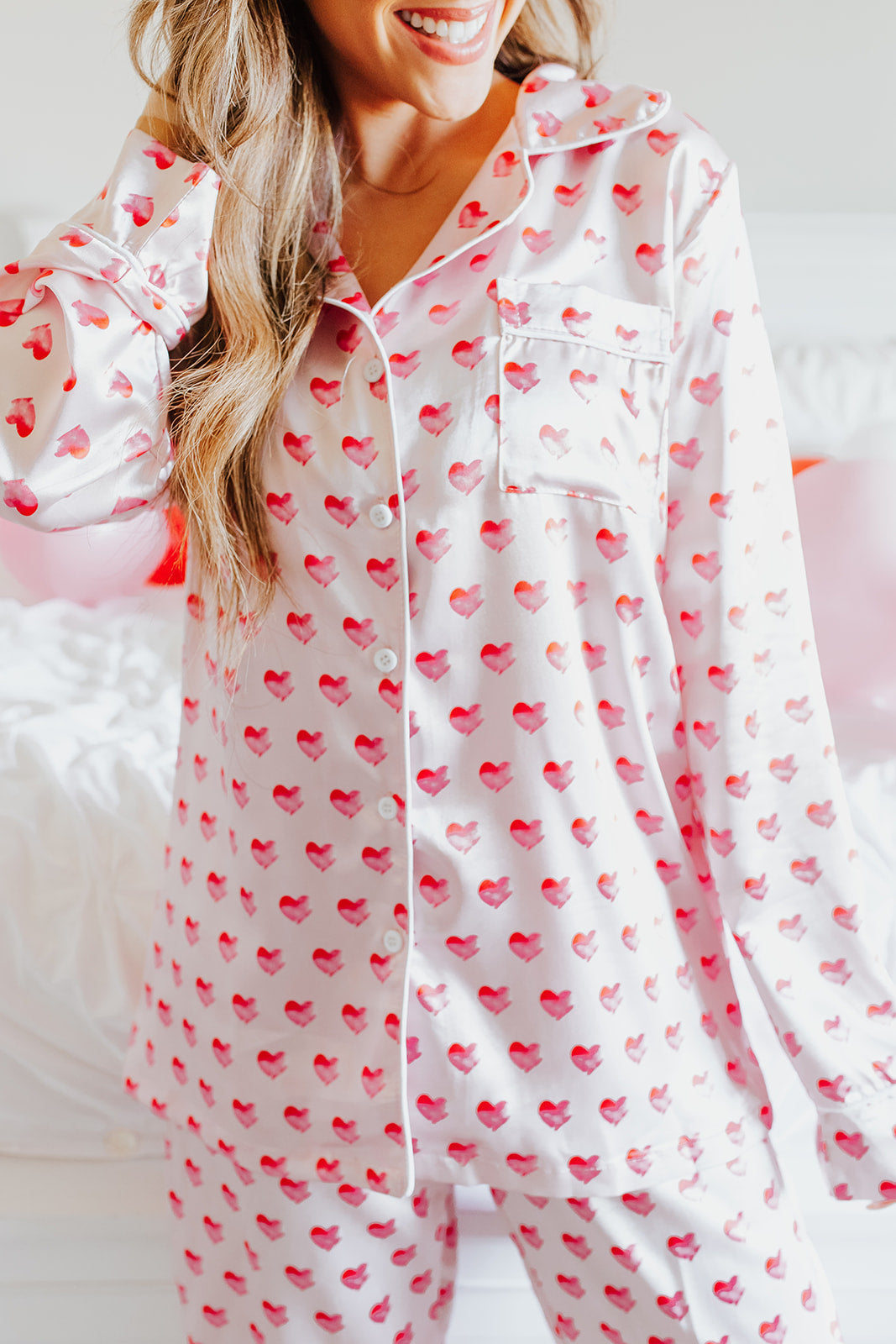 THE PINK DESERT HEART PAJAMAS IN PINK